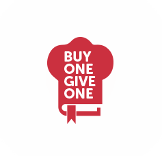 Buy one give one logo with halo